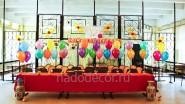 Оформление школьной столовой шариками