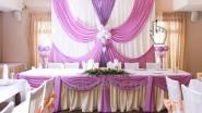 Свадебный фон и стол молодоженов: 8500 руб.