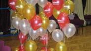 Фонтаны из шаров с надписью