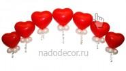 Гирлянда из сердечек «Клубника»: 720руб/м