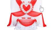 Свадебный фон и стол Клубника со сливками с сердечком - 10930 руб.