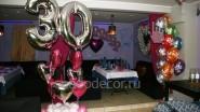 Украшение шарами ресторана к 30 летию