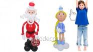 Дед Мороз и Снегурочка из шаров: от 2330р.- за шт.</br> Выс. фигур: 1м 25см