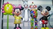 Микки и Минни Маус, Заяц, Клоун и Цветок