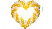 Сердце из шариков: 1190руб. Ширина -1,25 м.