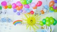 Детские солнце, радуга и тучка из воздушных шаров