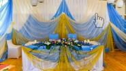 Оформление зала тканью в морском стиле