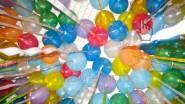 Гелиевые шары с широкой лентой