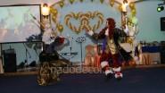 Украшение сцены шарами на свадьбу