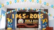 Украшение сцены к 9 мая: шары, банер 2,5х4м: 22 600руб