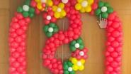 Украшение воздушными шарами к 8 марта