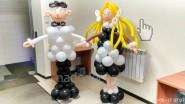 Фигуры детей - школьников из шаров