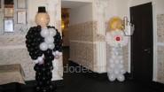 Жених и невеста из шаров. В=1,2 м.