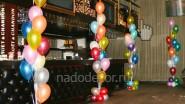 Фонтан из воздушных шаров, цена: 900 р/шт. Высота - 2 м.