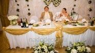 Оформление тканями ресторана к свадьбе
