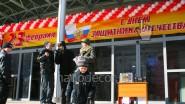 Печать баннеров и украшение шарами Торгового центра к 23 февраля