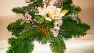 Новогодняя флористическая композиция