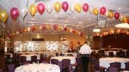 Оформление ресторана шарами и тканью к 50 летию