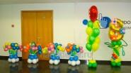 Украшение шарами офиса к 8 марта