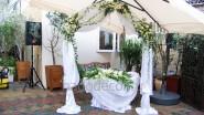 Украшение места выездной регистрации свадьбы