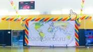 Печать баннера и украшение шарами олимпиады, эстафеты