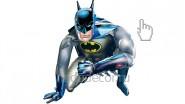 Ходячий шар Бэтмен: 1790р.-.<br />Высота фигуры- 95 см.