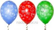 Шар с гелием «Детские улыбки», разноцветные: В-35см, 65руб.