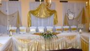 Сведебное украшение зала тканями