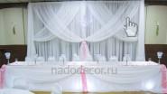 Украшение тканью свадьбы