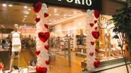Украшение шарами обувного бутика