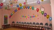 Украшение зала шариками в детском саду