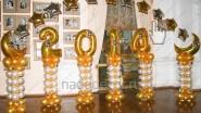 Новогоднее украшение шарами 2015
