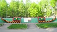 Украшение парка шарами к городскому празднику