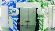 Оформление выставочного стенда воздушными шарами