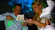 Оформление свадьбы декоративным светом