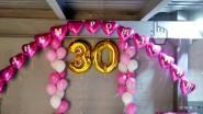 Надпись на шарах «С Днем рождения» 30 лет