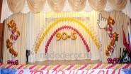 Украшение шарами и баннером юбилея ВУЗа