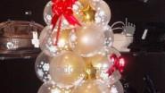 Оформление офиса шарами: Новогодняя Ёлочка