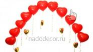 Гирлянда из красных сердец с сердечками: 590 руб за метр