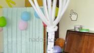 Берёзка из воздушных шаров