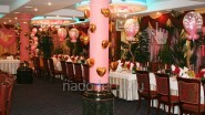 Украшение шарами свадебного банкета