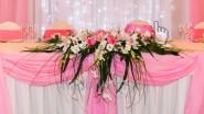 Декорирование стола жениха и невесты