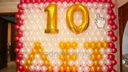 Надпись из шаров к 10 летию компании