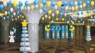 3D макет оформления фойе к Новому году