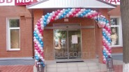 Оформление входа в магазин гирляндой из шаров