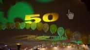 Украшение зала шарами и светом к юбилею