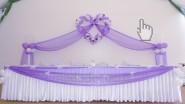 Свадебное сердечко с фонариками из шаров и тканью