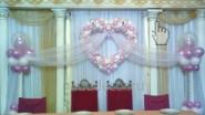 Украшение банкетного зала шарами на свадьбу