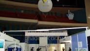 Летающий (3 м.) шар на выставке