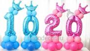 Цифры из шаров с коронами на День рождения ребенка